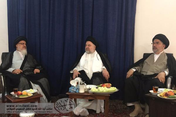 News - Ayatollah S Fadhel Hosseini Milani's visit to the holy city of Qum, Iran