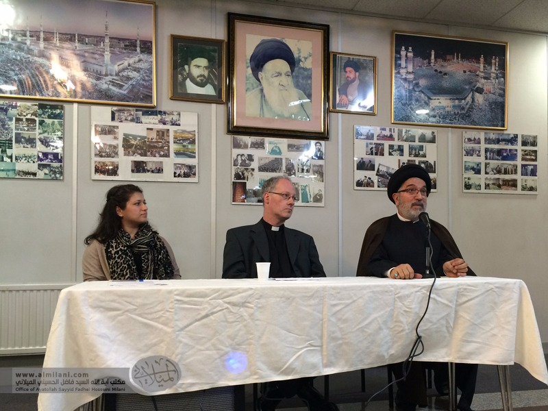 News - Ayatollah Milani attends the Christian Muslim Forum held on the 15th December 2016 at Al-Khoei Foundation celebrating the occasion of Mawlid of al-Nabi and festival of Christmas.